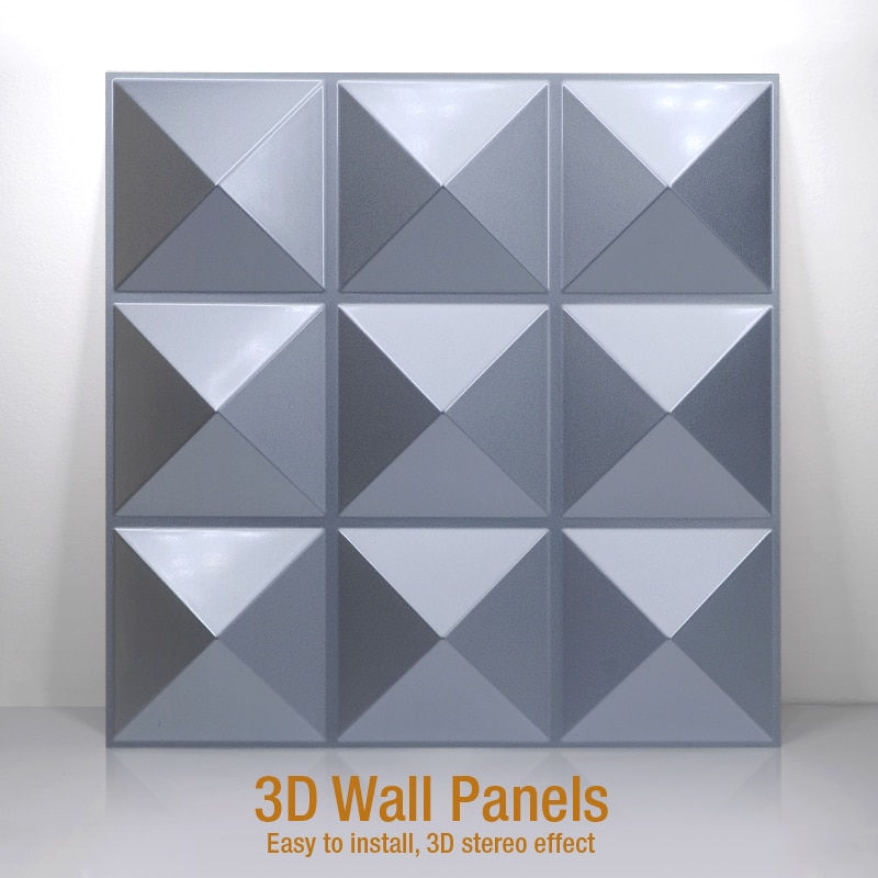 Pegatinas de pared artística 3D de 30x30cm, Panel de pared blanco, papel tapiz ignífugo, sala de estar papel tapiz impermeable para, tienda, decoración del hogar, logo tallado en madera