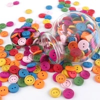 30pcs wooden buttons handmade 2 holes colorful buttons for clothing handwork clothes button diy crafts sewing accessories
