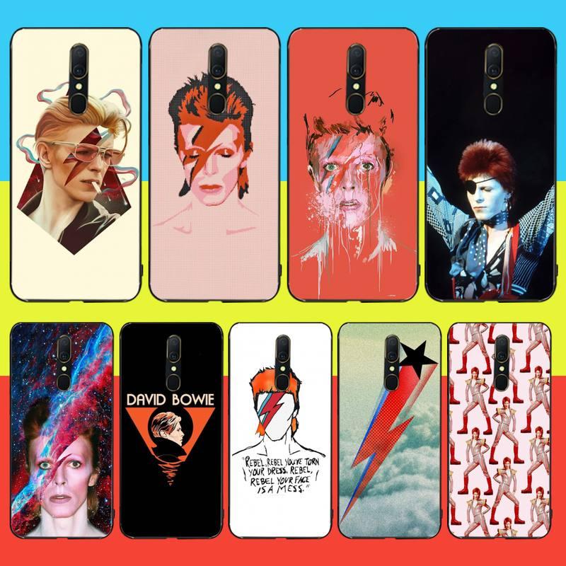 Penghuwan david bowie diy impressão caso capa de telefone escudo para oppo a5 a9 2020 reno z realme5pro r11 caso