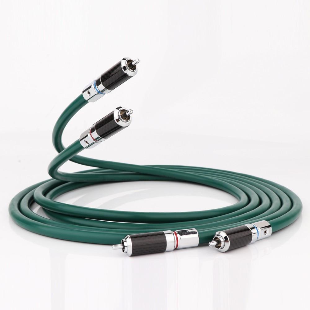Furutech-cable de señal de audio FA-220 OCC, amplificador de reproductor de DVD,...