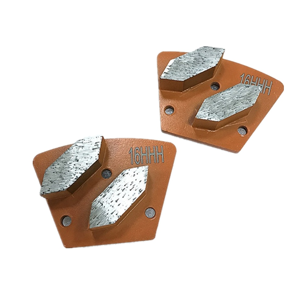 HT Brand New Diamatic Blastrac Trapezoid Grinding Disc Diamatic Metal Bond Grinding Pads for ASL Grinder Concrete Floor 12PCS
