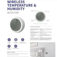 Maison Capteur De Temperature Et Dhumidite Avec ECRAN LED Fonctionne Avec Lassistant Google Et Tuya Zigbee Moyeu