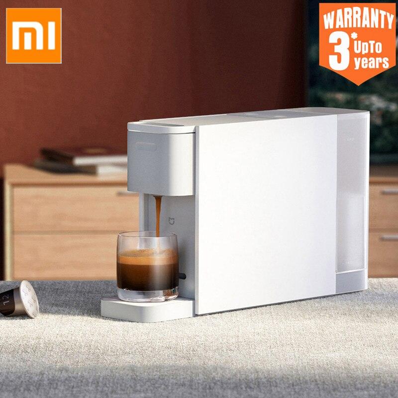 Кофемашина Xiaomi Mijia Капсульная для эспрессо S1301, автоматическое отключение, защита от удаления одним нажатием, кофеварка для рабочего стола Кофеварки      АлиЭкспресс