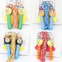 kids jump ropes wood handle sport fitness cartoon skipping ropes outdoor toys
