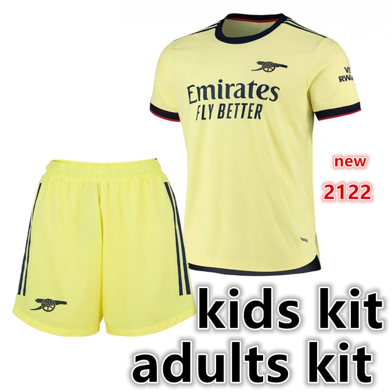 adults kit kids kit child shirt SAKS LACAZETTE PEPE Odegaard new shirt XHAKA AUBAMEYANG BELLERIN new 21 22 ArsenalES shirt