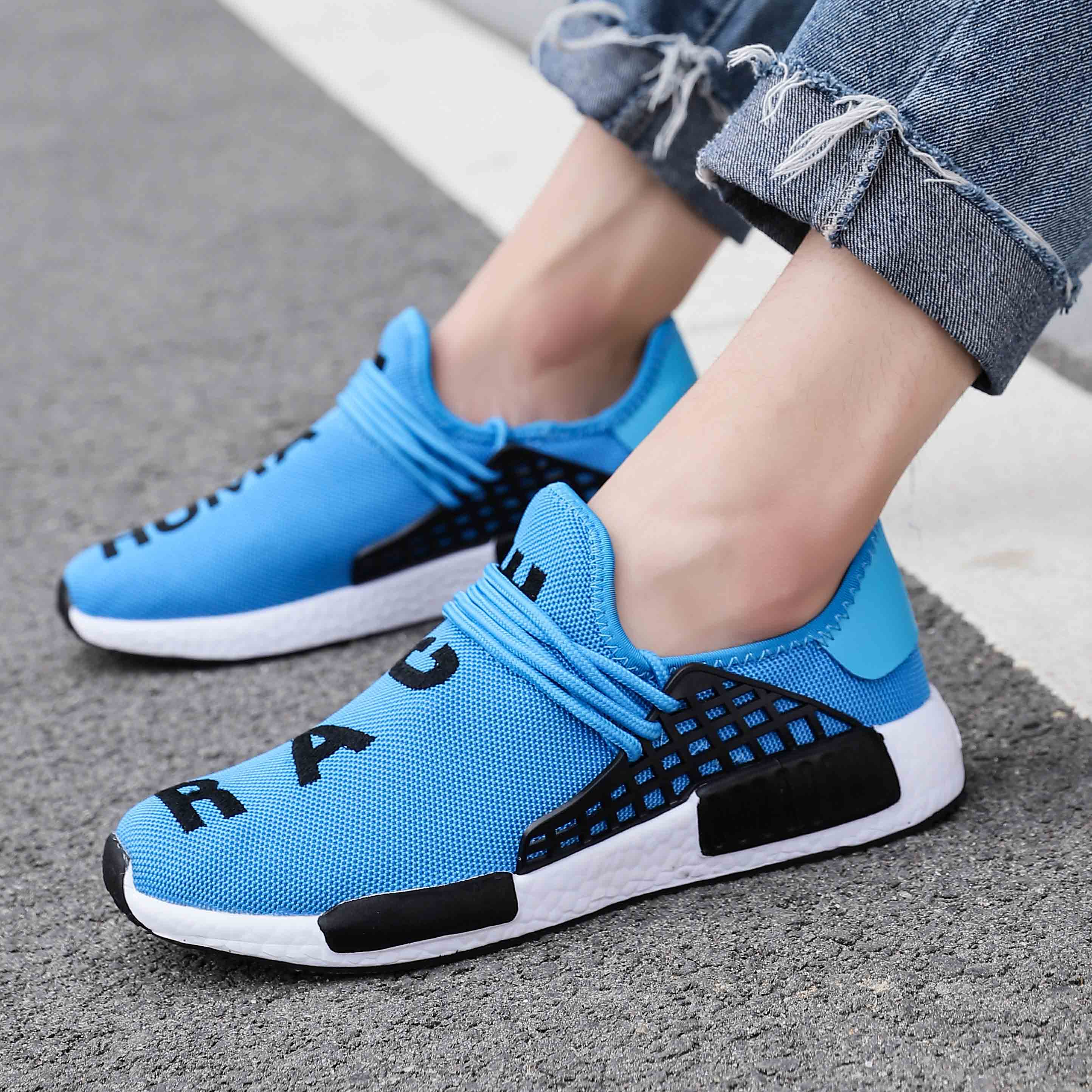 Tênis de Moda dos Homens do Verão Rendas até Sapatos Casuais para o Homem Respirável Masculino Andando Sneaker Sapatos Tamanho Grande