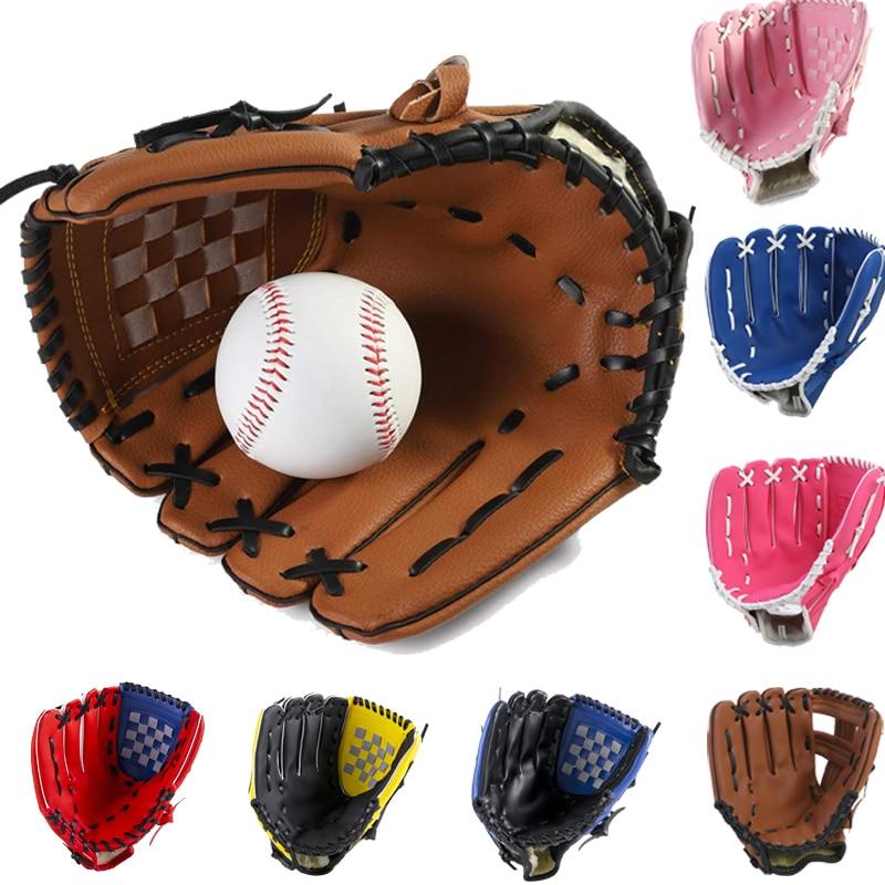Спортивные Бейсбольные перчатки для молодых взрослых, спортивные перчатки для тренировок по софтболу на открытом воздухе из ПУ, бейсбольны...