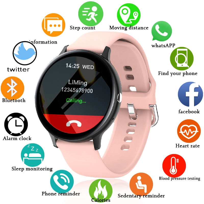 LIGE 2021 New Smart Watch Ladies Men Full Touch Fitness Tracker Blood Pressure Sleep Woman Smart Cal