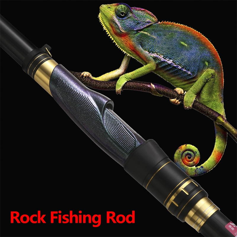 HighQuality3.6m-6.3m Carbon fiber rock fishing rod ultralight superhard long section hand and seaDual-use distance throwing pole enlarge