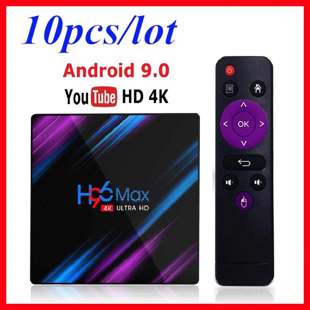 10 قطعة H96 ماكس RK3318 الروبوت التلفزيون مربع الروبوت 9 الذكية التلفزيون مربع ماكس 4GB RAM 64GB ROM جوجل PlayStore يوتيوب 4K تعيين كبار مربع 2GB 16GB