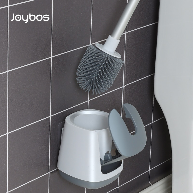Joybos Silicone Toilet Brush Wall-Mounted Toilet Brush Accessories Drainable Cleaning Tools Home Bathroom Brush Accessories Sets