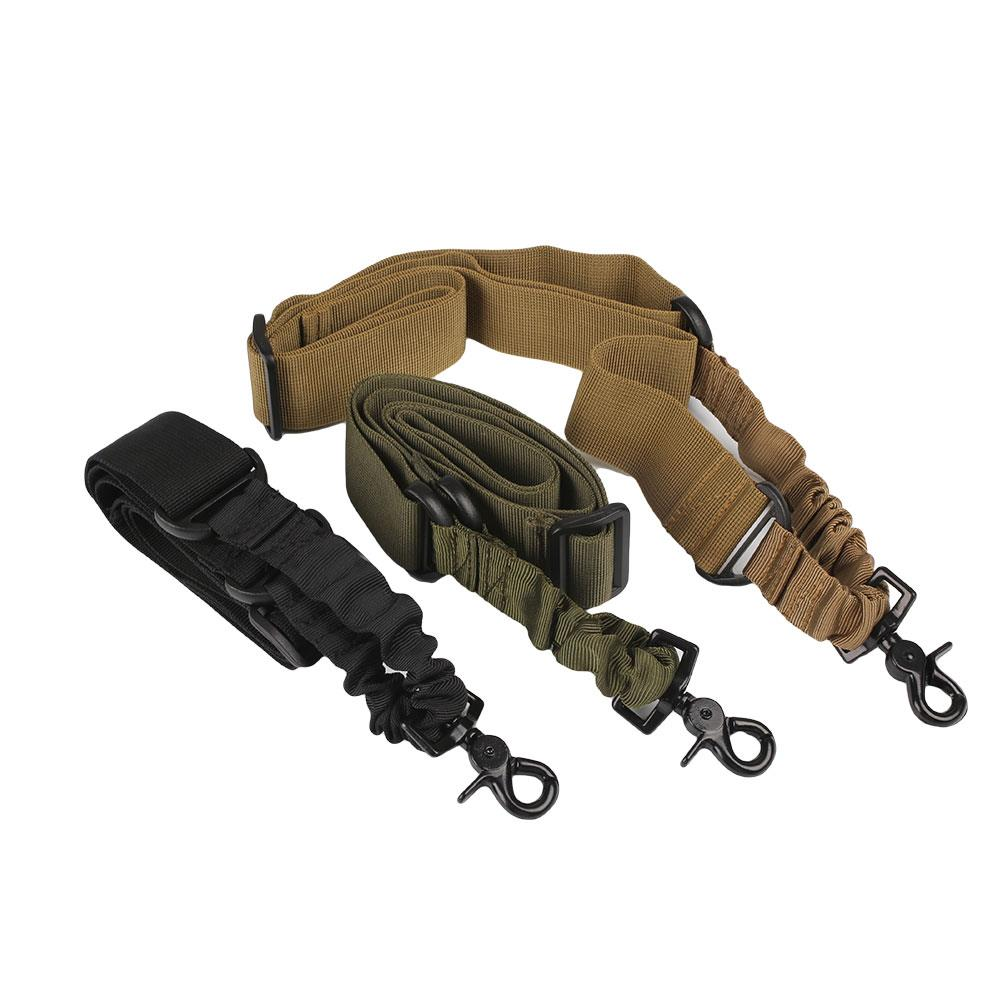 Magorui elástico al aire libre táctico de un solo punto de liberación rápida Sling Strap Rifle Gun Sling