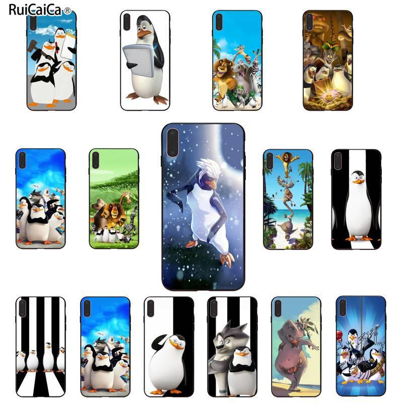 Ruicaica Cartoon Penguins of Madagascar Phone Case Cover For iPhone 6 6S 7 8 Plus X XS MAX 5 5S SE XR 11 pro max Cellphones