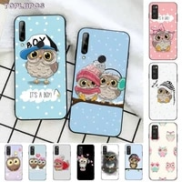 toplbpcs baby cute owl lover cartoon tpu phone case for huawei honor 8 x 9 10 20 v 30 pro 10 20 lite view 7a 9lite play case