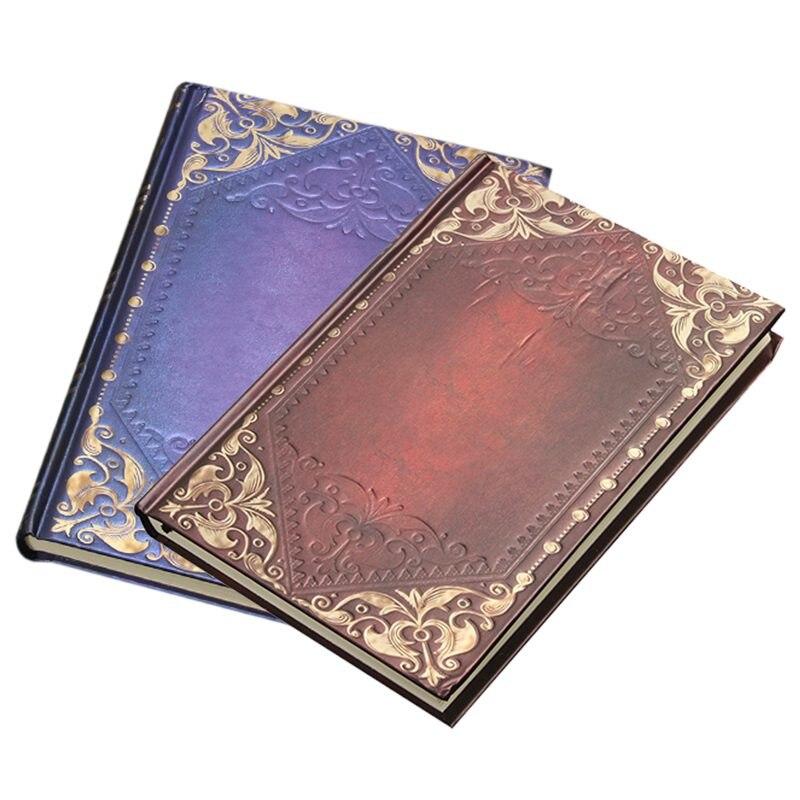 Vintage clásico Retro dorado tartán enmarcado cuaderno portátil diario libro