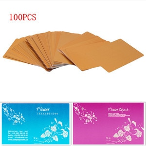 100Pcs Aluminum Alloy Blanks Card for Customer Laser Engraving DIY Gift Cards Metal Business Cards