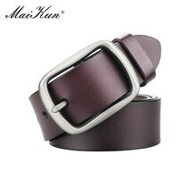 Maikun Men's Business Casual Large Size Belt Fashionable Genuine Leather Belts Popular Father's Day