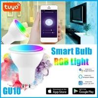 Ampoule LED connectee 4W RGBCW  1 a 30 pieces  Tuya  wi-fi  commande vocale a distance Via Smart life APP  fonctionne avec Alexa Google Home  IFTTT
