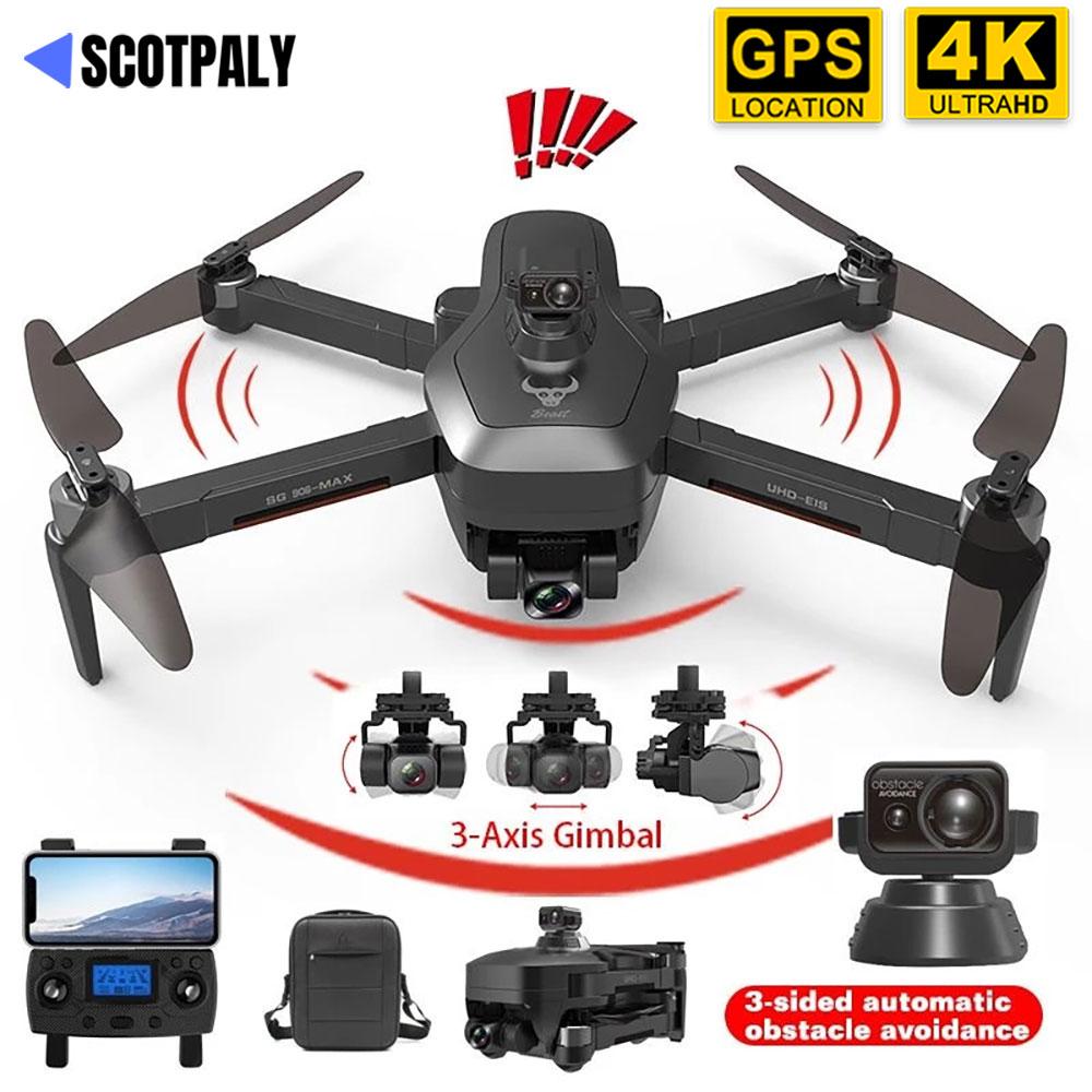 جديد SG906 ماكس PRO3 GPS الطائرة بدون طيار 4K كاميرا 5G واي فاي FPV الليزر تجنب عقبة 3-محور Gimbal فرش السيارات طوي أجهزة الاستقبال عن بعد