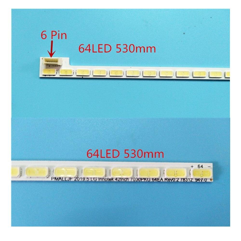 جديد 2 قطعة/الوحدة 64LED 530 مللي متر LED قطاع ل LG Innotek 42 بوصة 7030PKG 64EA 74.42T23.001 AUO TOSIBIA الاتحاد الافريقي T420HVN01.1 T420HW06 T420HW04