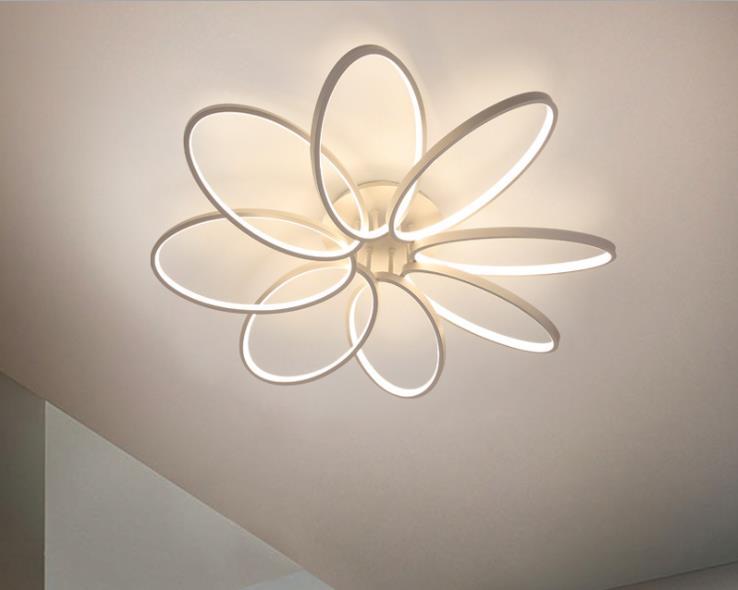 New petal ceiling lamp LED creative flower living room lamp simple modern warm bedroom lamp designer lamp