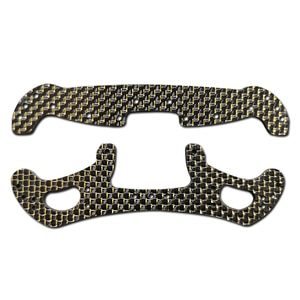 self made 2mm Head Leading Pteris Carbon fiber plate spare parts for AR/MA Chassis of Tamiya mini 4WD RC Car model gold