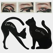 Schönheit Augenbraue form Schablonen 2 Teile/los Frauen Katze Linie Pro Eye Make-Up Werkzeug Eyeliner Schablonen Vorlage Former Modell für frauen