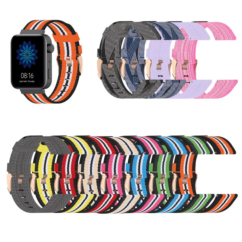 18mm Nylon Watch Band For For Xiaomi Smart Watch Bracelet Replacement Watchband Colorful Wrist Band Wearable Accessories