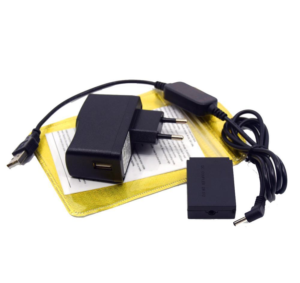 ACK-E12 Зарядное устройство USB кабель + DR-E12 DC муфта LP-E12 муляж батареи + адаптер для камер Canon EOS M2 M10 M50 M100 M200