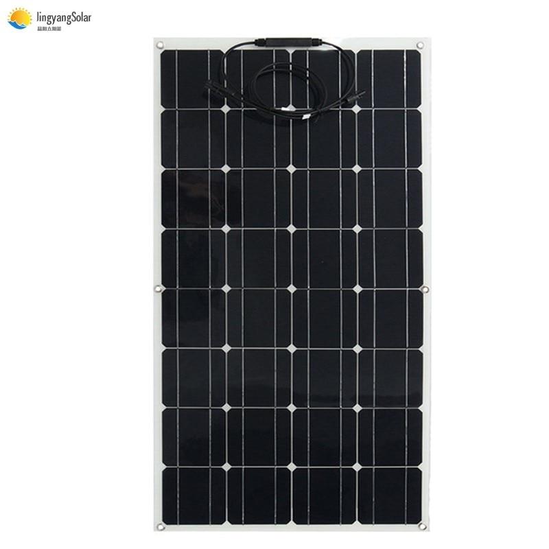 لوحة شمسية مرنة عالية الأداء 100 واط لشاحن شمسي 12 فولت 200 واط 300 واط 400 واط
