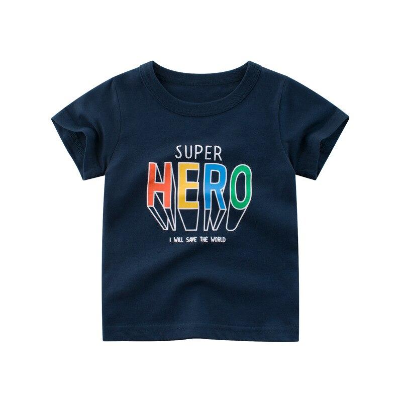 Футболки для мальчиков коллекция 2020 года, летние детские футболки с надписями хлопковые футболки, костюм футболки для мальчиков Одежда для ...