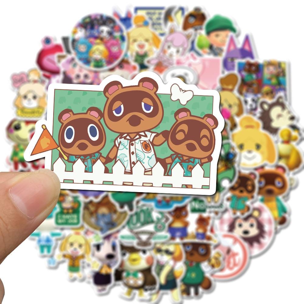 pegatinas-de-cruces-de-animales-para-juegos-de-pc-diario-estetico-pegatinas-de-anime-para-album-de-recortes-equipaje-portatil-resistente-al-agua