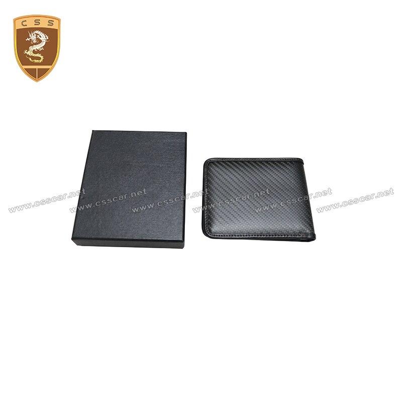 حامل بطاقة مزدوج من ألياف الكربون المضادة Rfid للرجال ، حامل بطاقة ، محفظة معدنية