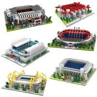 2020 football old trafford camp nou bernabeu san sir stadium real madrid barcelona club diamond building blocks toy gift