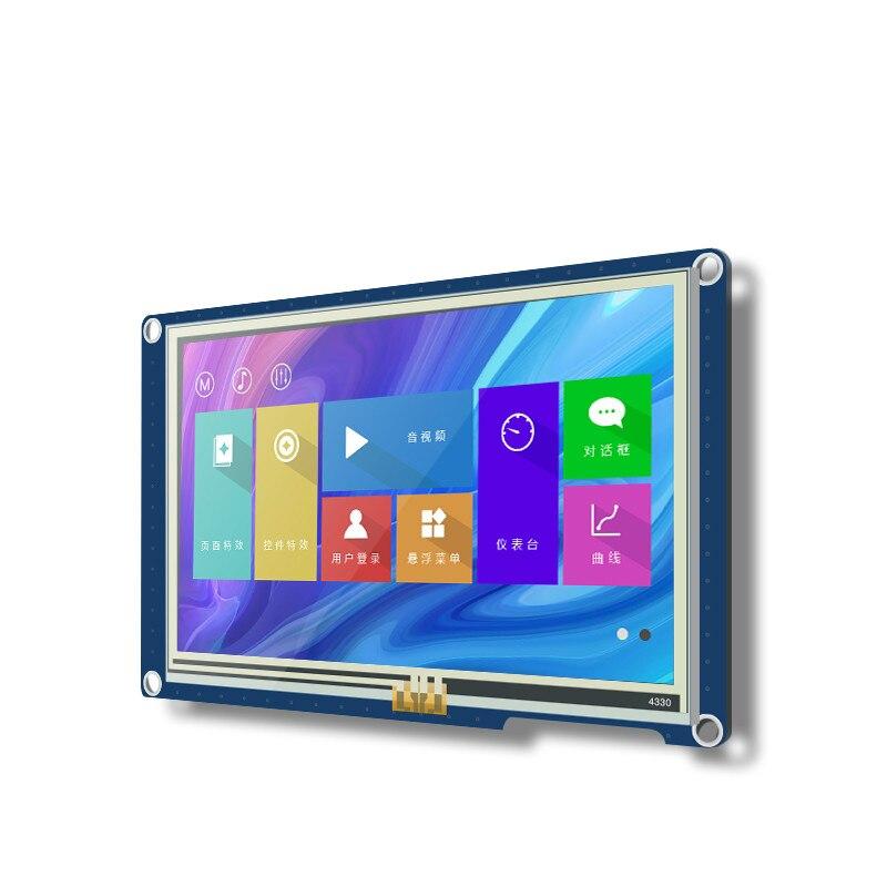 8048X550_011R 5 بوصة HMI المسلسل الذكية شاشة LCD عرض R-T-C IO المقاومة