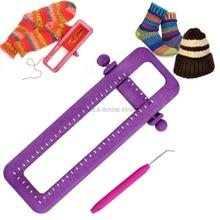 Bricolage Machine à tricoter chaussettes jambières tisserand Crochet anneau fil aiguille tricot outils réglable chaussette métier à tisser Kit outils ménagers