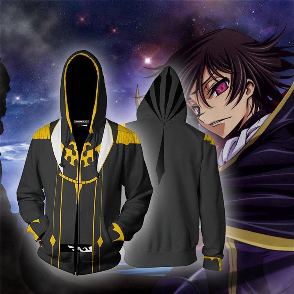 Halloween Cosplay Anime Code Geass Lelouch CC Camisolas Do Hoodie jacket Cosplay Traje Jaqueta Com Zíper Roupas