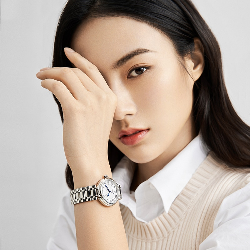 2021 Seagull Ladies Watch Automatic Mechanical Watch Ultra-Thin Casual Simple Roman Holiday Sapphire Women Watch 816.417L enlarge