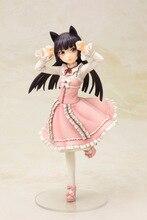Modèle jouet fille cadeau LELAKAYA 22cm Figure danime Sexy chat rose Kuroneko douce Lolita Ruri Gokou poupée mignonne fille OreNo Imouto Ga PVC