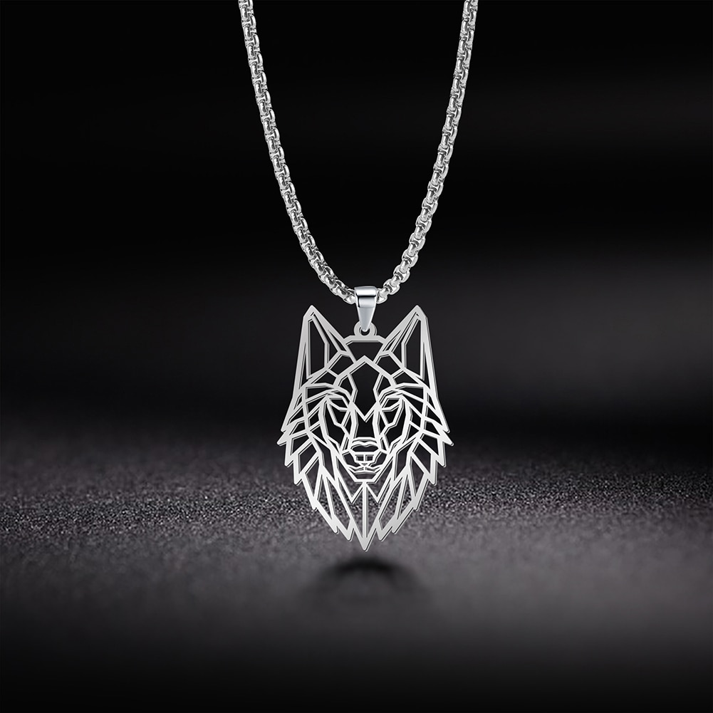 aliexpress - My Shape Wolf Animal Necklace 316L Stainless Steel Forest Animals Men Necklace Hollow Cut Out Pendant Jewelry Gift For Women