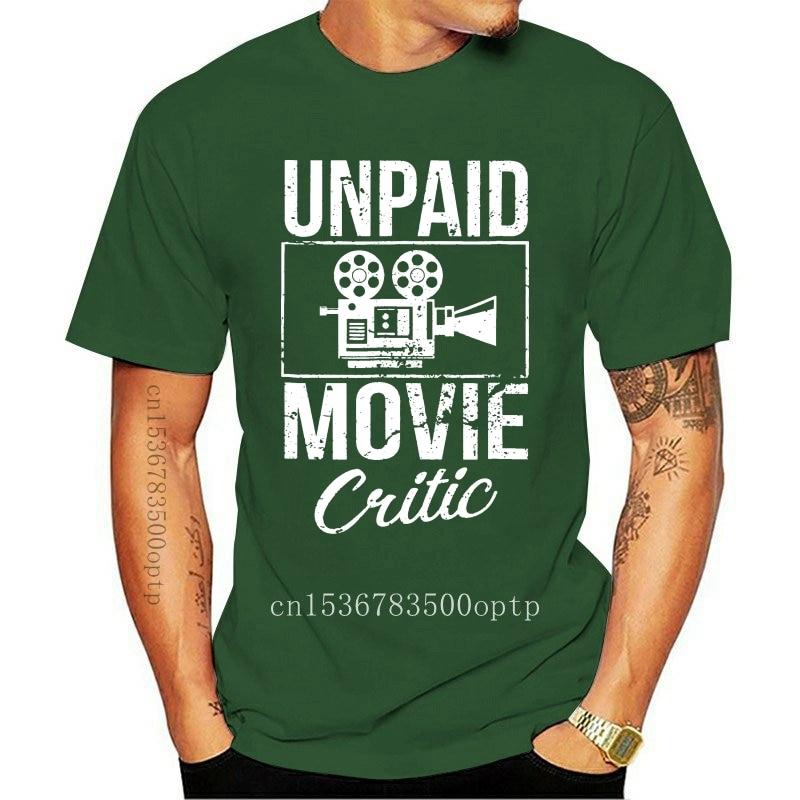 New Fashion Men T shirt Unpaid Movie Critic Film Cinema Motion Picture Fan T Shirt