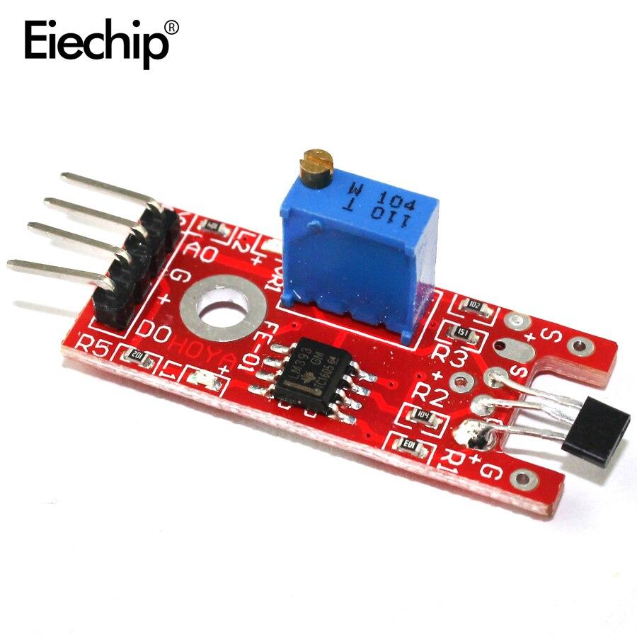 5pcs/lot KY-024 Linear Magnetic Hall Sensor Board Switch Speed Counting Hall Sensors Module For Arduino Diy KY024 Hall Sensor недорого