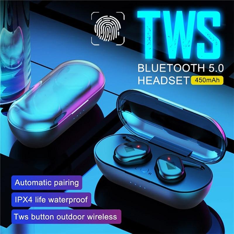 Bluetooth 5.0 TWS Wireless Earphones Noise Reduction Stereo In-ear Headphones Sport Headseat Earbuds enlarge