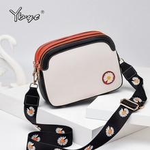 YBYT wide strap crossbody bags for women 2020 daisy PU leather luxury handbags women bags designer f