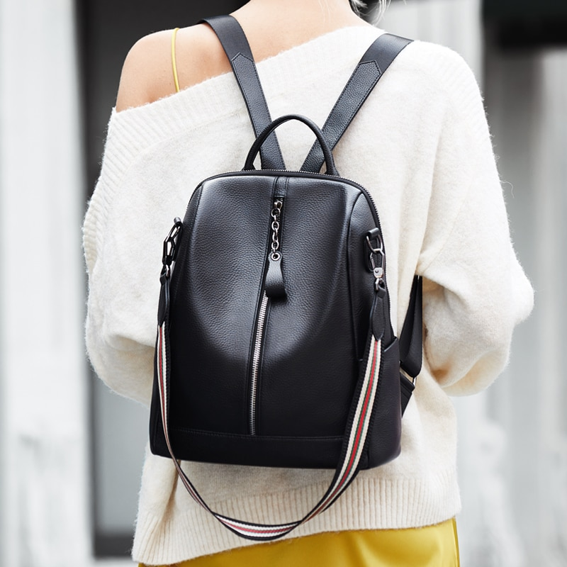 Stock coming! ZOOLER Top Travel Real Leather Backpack Women Genuine Fashion Luxury Bags Girls#HS222