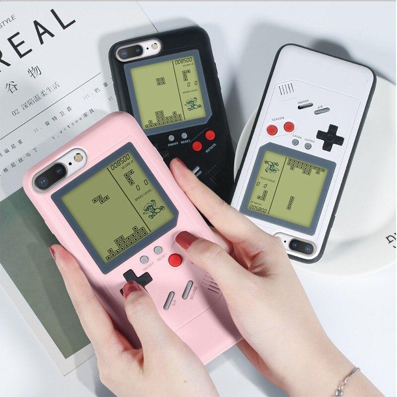 GB чехол для телефона Gameboy Tetris для iPhone X 6 6s 7 7plus 8 8plus Plus XS Max XR Play Blokus, чехол для игровой консоли без аккумулятора