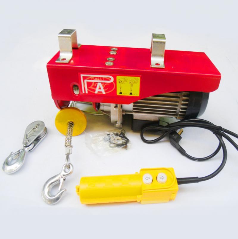 220V Scaffold Electric Workshop Garage Power Gantry Hoist Winch Lifting 400/800KG