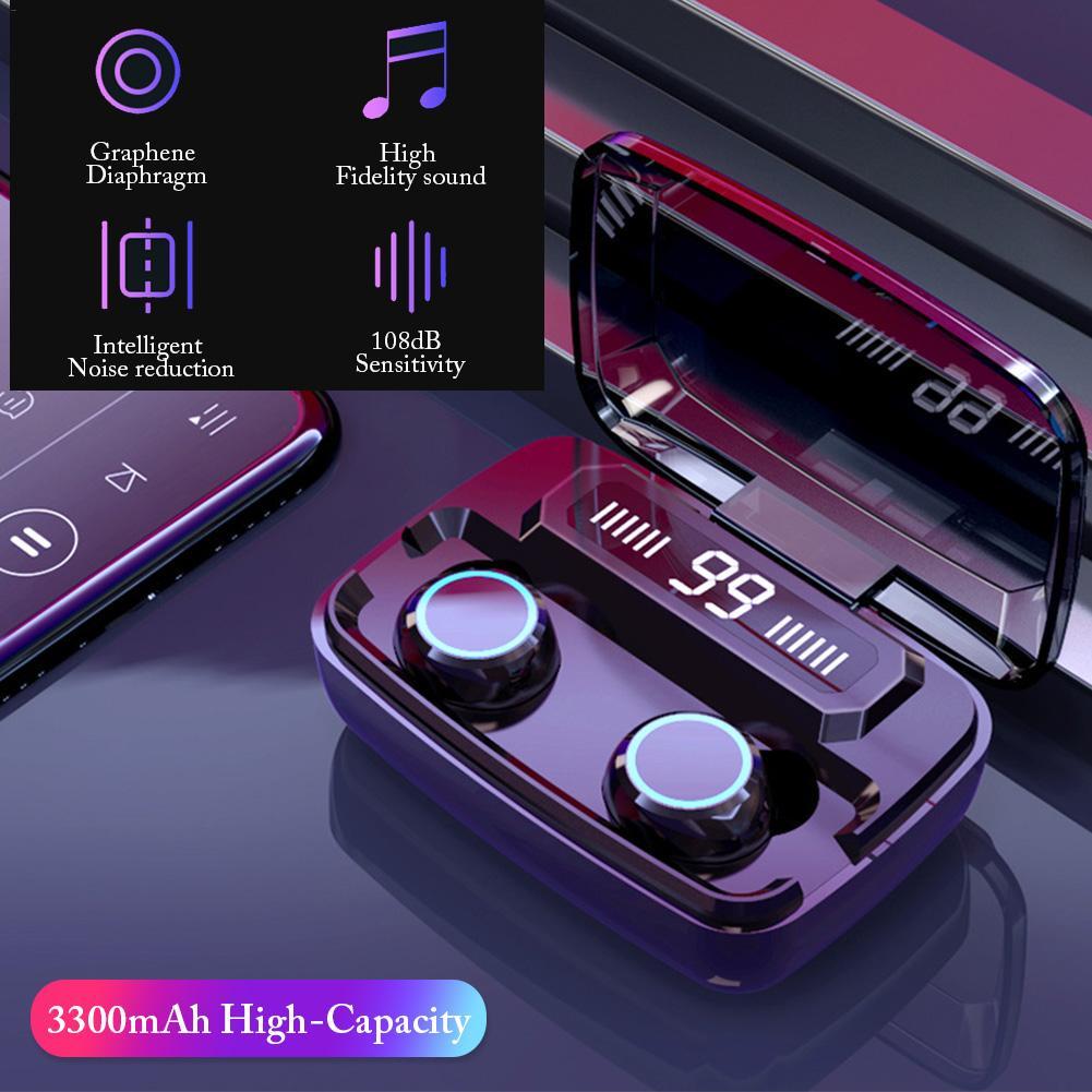 M11 TWS Mini auricular con pantalla Digital LED táctil IPX7 impermeable auriculares inalámbricos Bluetooth con caja de carga de 3300MAh