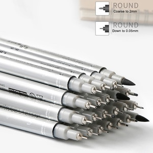 10 Pcs Waterproof Hook Line Pens Needle Art Drawing Set Signature for Home Office New Arrival
