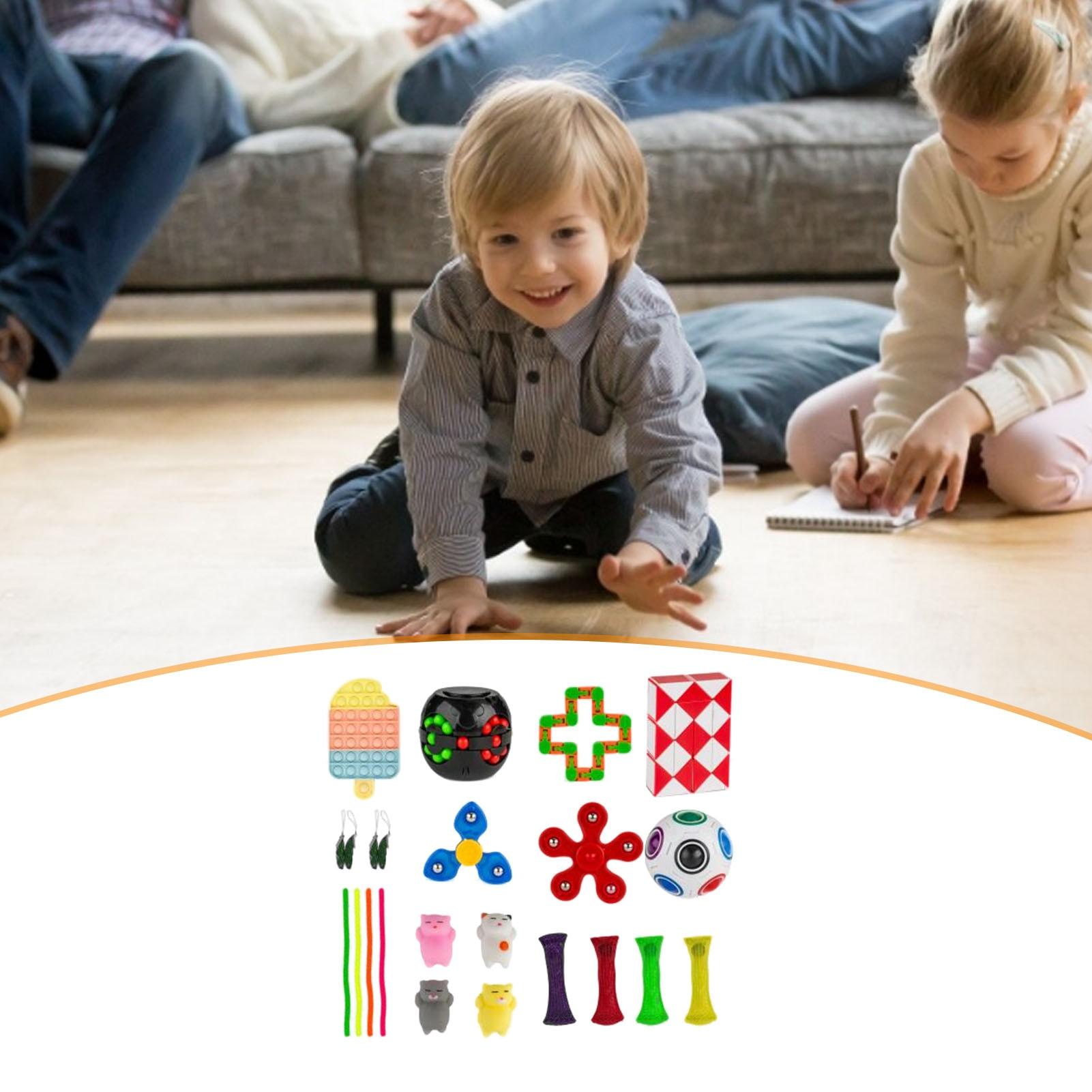 Sensory Fidget Toy Set Decompression Stress Reliever Fidget Toys Push Bubble Fidget Antistress Toys Autism Special Needs enlarge